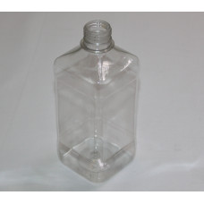 Бутылка квадратная 500мл пластик