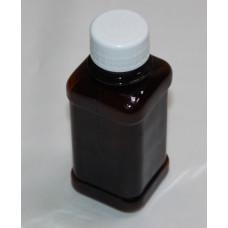 Бутылка 125 мл ПЭТ квадрат коричневая с крышкой