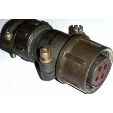 Соединители цилиндрические низкочастотные типа ШР20П4НШ8