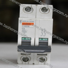 Автоматический выключатель Merlin Gerin Multi 9 C60N C2A 400V